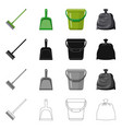 cleaning and service symbol vector image vector image