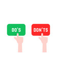 click finger like do s and don ts button vector image vector image