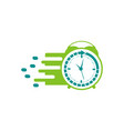 clock logo design vector image