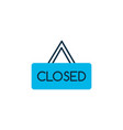 closed icon colored symbol premium quality vector image