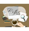 Coffee break banner rest time concept on vector image