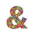 colorful paint splashes font ampersand sign