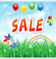 commercial advertising on spring background vector image