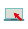 computer device with arrow technology icon vector image vector image