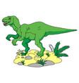 cute dinosaurs bacartoon smiling dinosaur vector image vector image