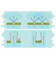 diffraction of waves example diagram vector image vector image