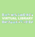 electronic library word concepts banner vector image