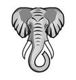 elephant head animal mascot logo vector image vector image