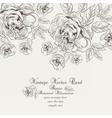Floral Vintage Invitation card vector image vector image