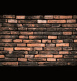 grunge color texture as brick wall shape on white vector image vector image
