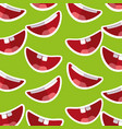 happy mouth teeths funny fools day decoration vector image