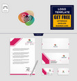 Holidays logo template and free letterhead
