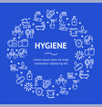 hygiene round design template line icon concept vector image