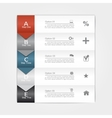 Infographic report template vector image vector image