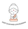 keep calm and love buddha vector image vector image