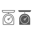 kitchen scale line and glyph icon kitchen vector image vector image
