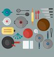Kitchen tool flat design vector image vector image