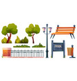 light post outdoor elements for park construction vector image