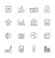 line business banking and finance icons vector image vector image