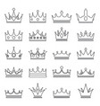 lineart medieval royal crown queen monarch king vector image vector image