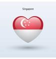 Love Singapore symbol Heart flag icon vector image