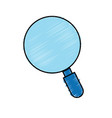 magnifying glass tool to search and read vector image vector image