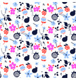 millefleur flowers and fruits pink purple abstract vector image