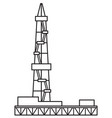 oil derrick icon vector image