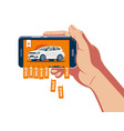 online car sale announcement vector image vector image