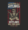only outlaws will own guns vector image vector image