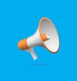 orange megaphone icon design vector image