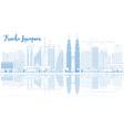 Outline Kuala Lumpur Skyline vector image vector image