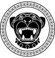 panther aztec stencil second variant vector image vector image