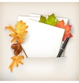 Paper Sheet in Pocket and Fallen Leaves vector image vector image