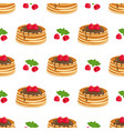 pattern with pancakes vector image vector image
