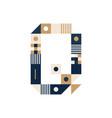 pixel art letter q colorful letter consist of vector image vector image