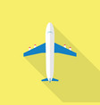 plane icon set of great flat icons with style vector image