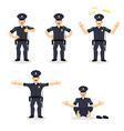 Police set of motion Cop set different poses vector image