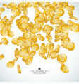 realistic gold coins on transparent vector image