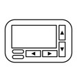 retro technology emergency call pager vector image