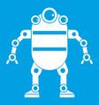 robot icon white vector image vector image