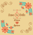 save the date romantic wedding greeting card vector image vector image