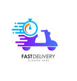 scooter fast delivery logo design courier logo vector image