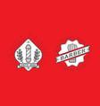 set of barber shop logo design vintage label vector image vector image