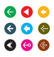 set of color arrows collection of buttons vector image