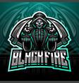 skull reaper logo mascot design vector image vector image