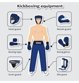 Sport equipment for kickboxing martial arts vector image vector image