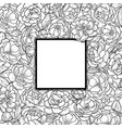 squared frame with peonies vector image vector image
