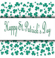 st patricks day card eps10 vector image