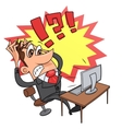 Stress while working at computer 4 vector image vector image